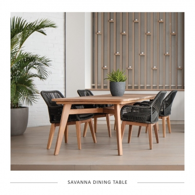 Savanna Dining Table and Victoria Chairs